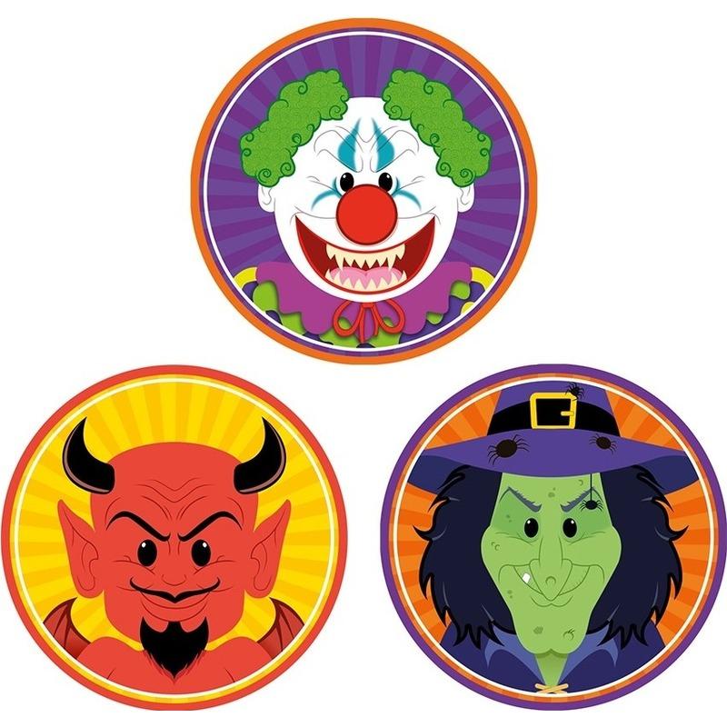 Halloween Pakjes.Halloween Onderzetters Bierviltjes Duivel Heks En Horror